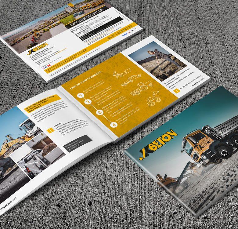 Gestaltung & Druck Preisliste