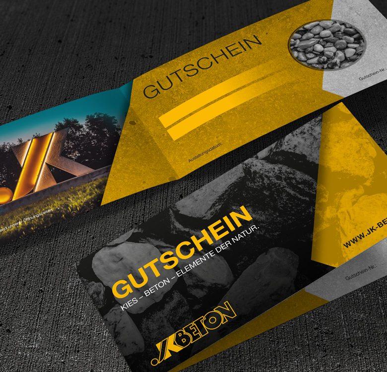 Gestaltung & Druck Gutscheine