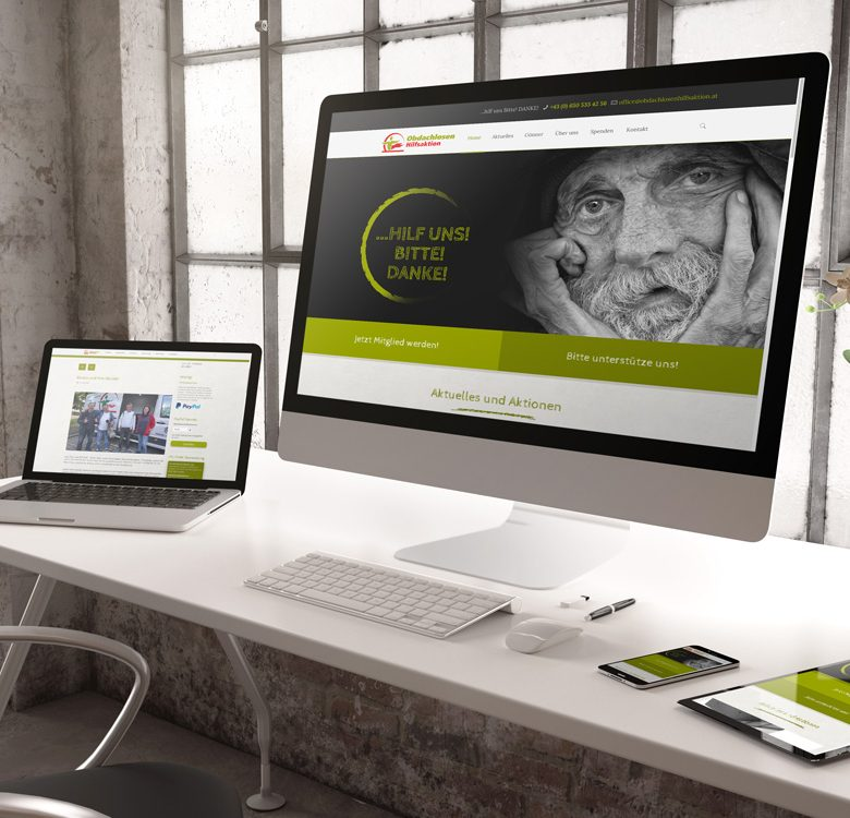 Web Design Obdachlosenhilfsaktion